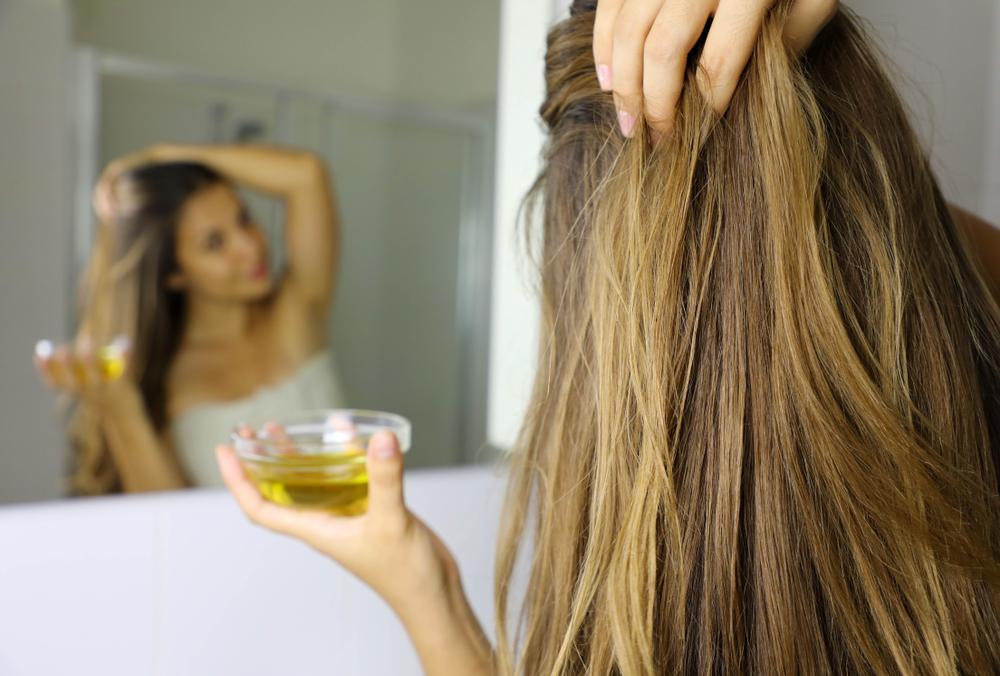 minyak zaitun rambut kuat